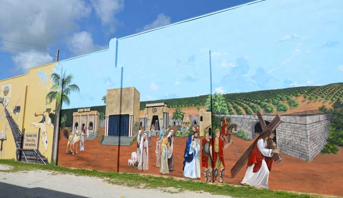 Lake Wales Passion Play mural