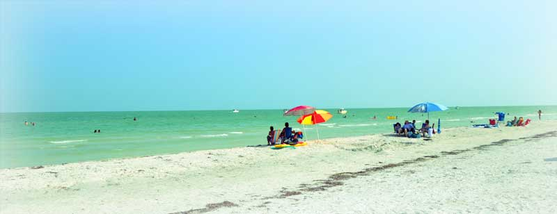 Sanibel Island Beach by the lighthouse