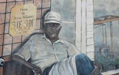 Lake Wales Mural of Jesse Williams
